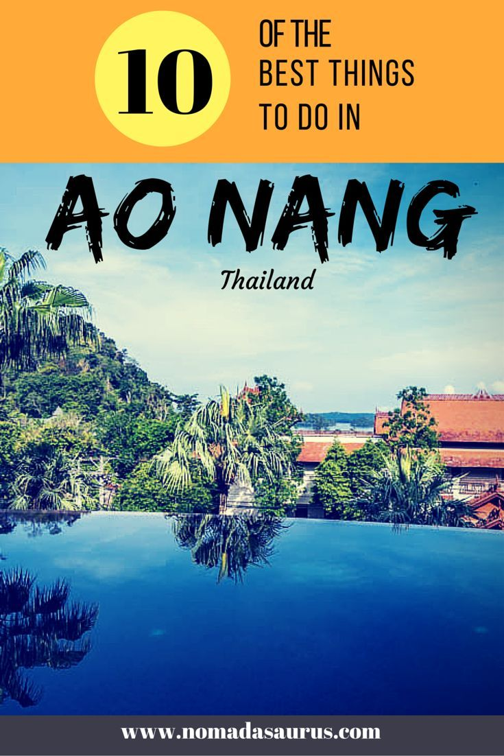 Here are the best things to do in Ao Nang from those who know! We spent a week in Krabi and came up with the 10 best activities in Ao Nang. #aonang #thailand #thingstodo: