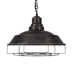 Brooklyn Vintage Step Metal Lamp shade - Dark Grey Pewter - 15 inch