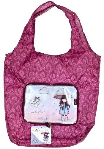Gorjuss Puddles Of Love Fold-Away Shopper Bag: Amazon.co.uk: Clothing