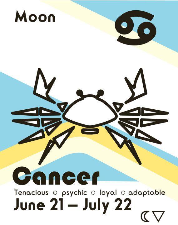 Impression d'astrologique Cancer par ReEcoShop sur Etsy