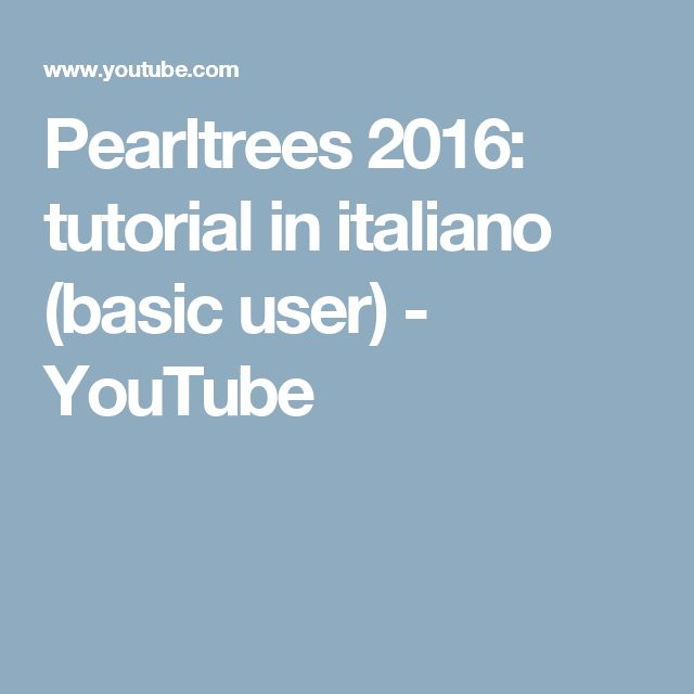 Pearltrees 2016: tutorial in italiano (basic user) - YouTube