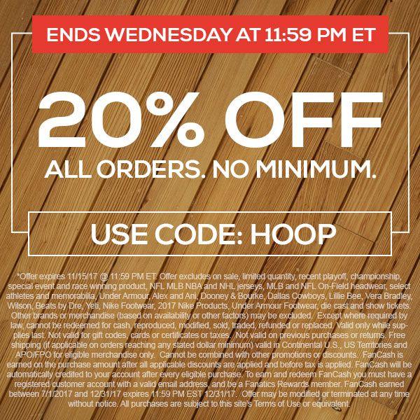 20% Off All Orders, No Minimum. Use Code: HOOP