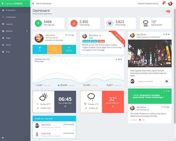 Cameo Is Premium Responsive Admin Dashboard Template Built