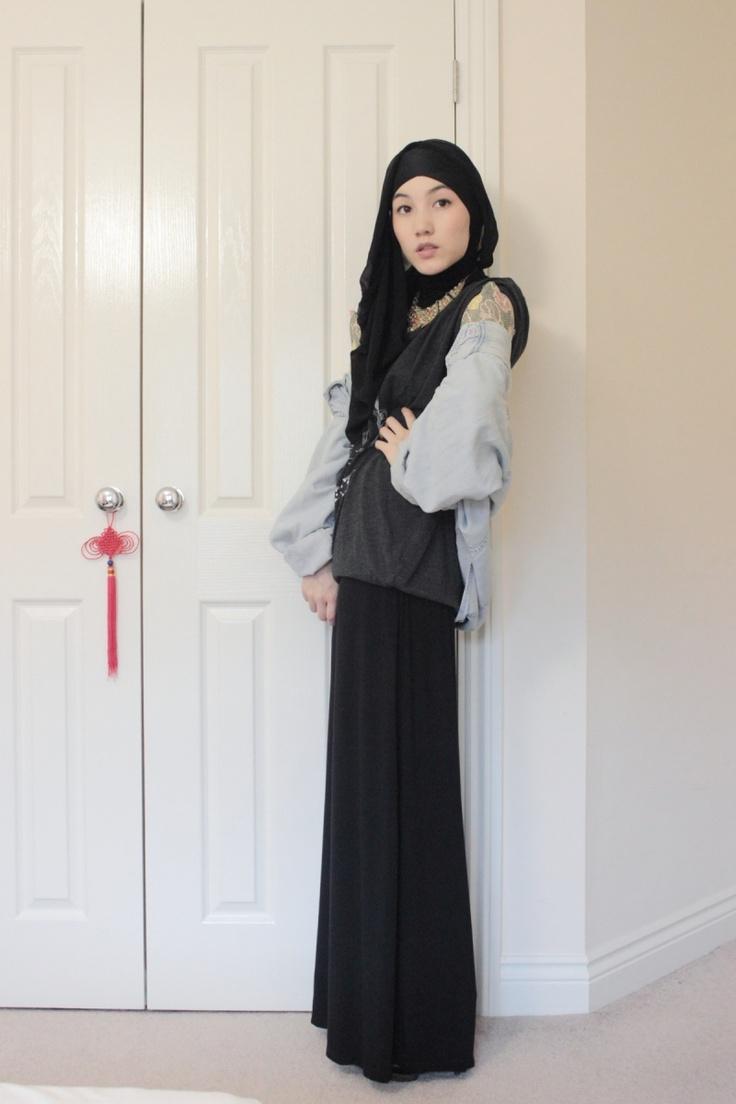 Hana Tajima~Maysaa jersey maxi skirt