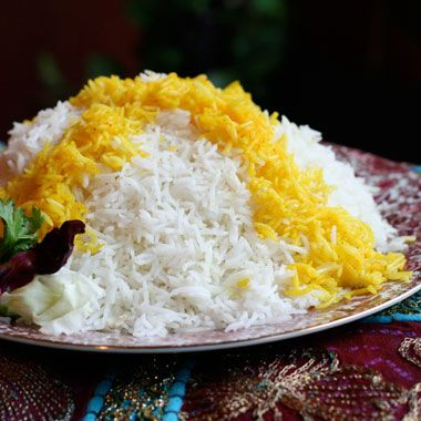pretty involved..but would like to try it. Persian Steamed White Rice em(Chelo)/em Recipe at Epicurious.com