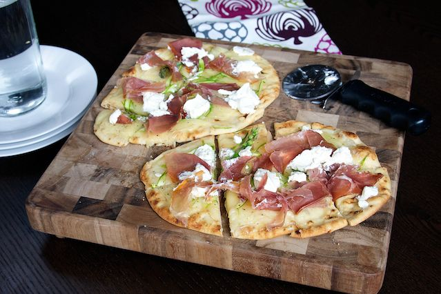 Asparagus Goat Cheese and Proscuitto Flatbread 6