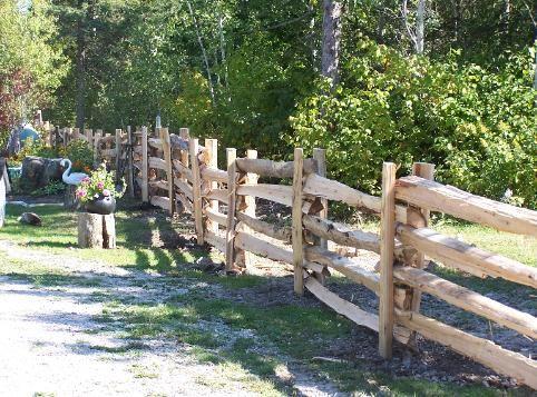 Cedar Split Rail Fence Quot Stack Quot Design What We Want To Do