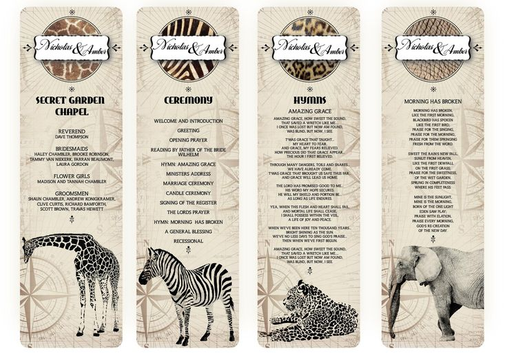 safari wedding stationery