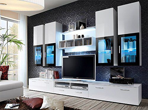 Presto Modern Wall Unit Entertainment Centre Spacious And Elegant Furniture TV Cabinets Living Room