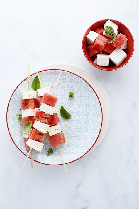 Spiedini con anguria e primosale | Cucina Scacciapensieri