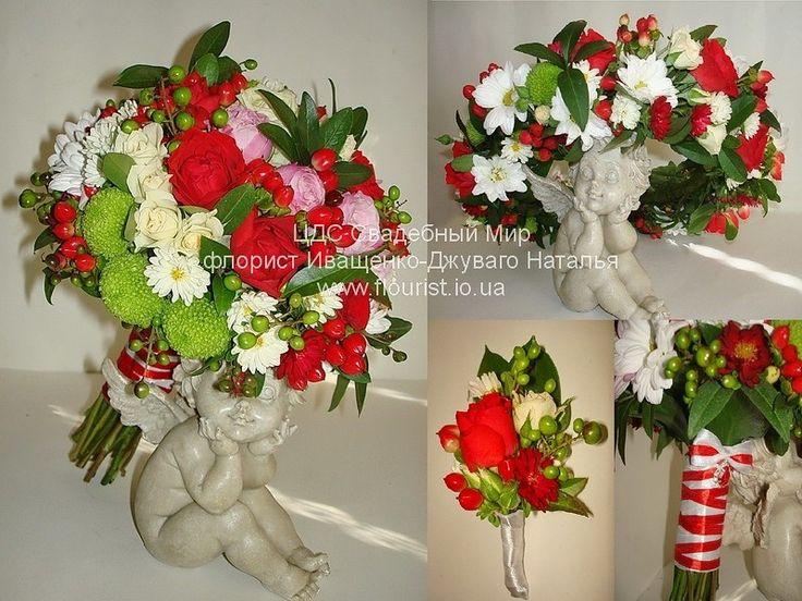 Свадьба в украинском стиле, букет невесты, венок из живых цветов, бутоньерка для жениха #свадьбавукраинскомстиле #свадебныйбукет #венокнаголову #букетневесты #бутоньерка