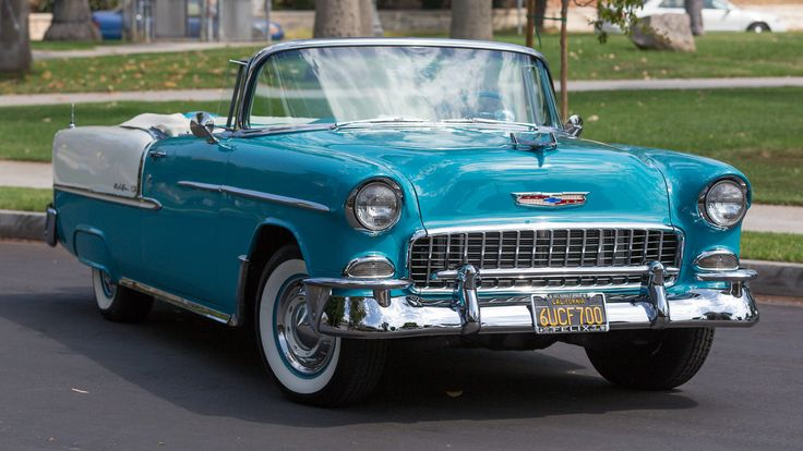 1955 Chevrolet Bel Air Convertible presented as Lot F140 at Monterey, CA