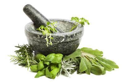 Variety of herbs.