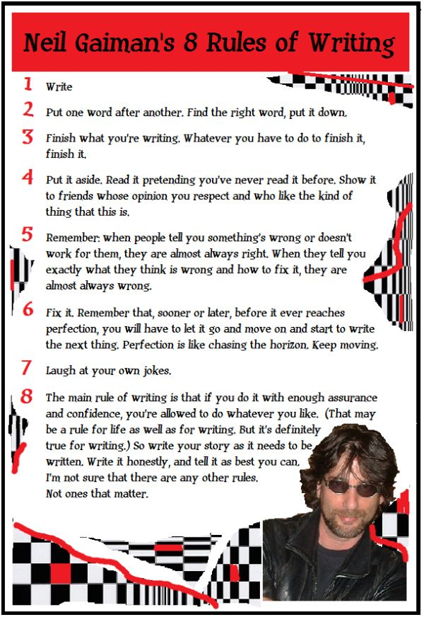 neil gaiman writing advice quotes