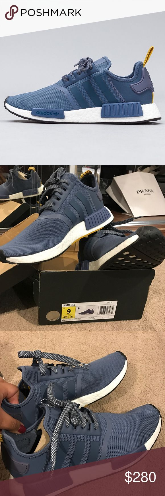 Size 10 Women, 9 Men Adidas NMD Tech Ink These are gorgeoussss adidas nmd. Hard to find. Rare. New in Box. Have never been worn out, only tried on. They are a size 9 men, 10 in women. They are pretty roomy. Not going to lie, i bought 5 NMDs and im just trying to sell some lol. :) THE MOST COMFORTABLE SNEAKERS EVER 😍😭 and i was never really an adidas fan before. AUTHENTICCC 💯💯💯 i have the receipt. PRICE NEGOTIABLE Adidas Shoes Sneakers