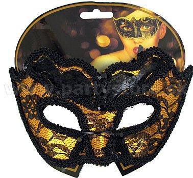 "Maska - škraboška "" Secret "" zlatá"