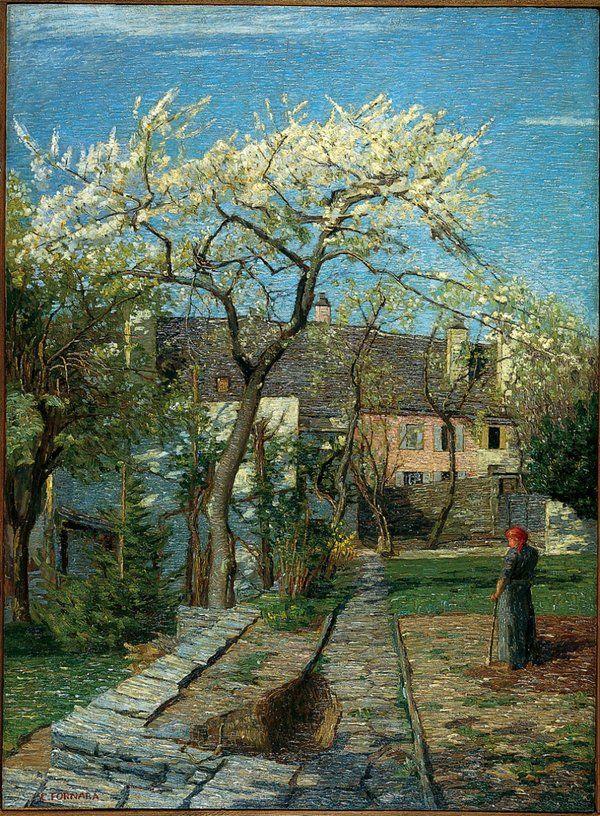"""Cherry Tree in Blossom"", - Carlo Fornara"