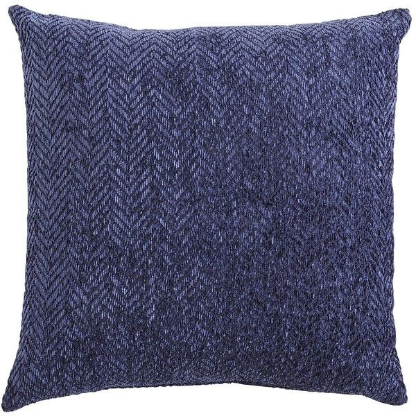 Pier One Decorative Throw Pillows : Pier 1 Imports Blue Herringbone Chenille Pillow (?19) liked on Polyvore featuring home, home ...