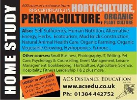 Six Permaculture Design Courses are available through ACS Distance Education http://www.acs.edu.au/courses/permaculture-and-self-sufficiency-courses.aspx