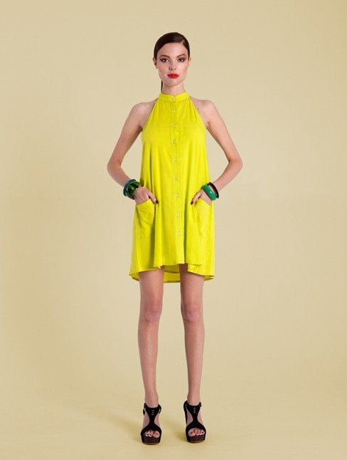 Brighten your spring wardrobe with a cool dollop of lime sorbet ... yes please! Designed for handmade with 100% viscose for spring / summer 2012/13 collection $119