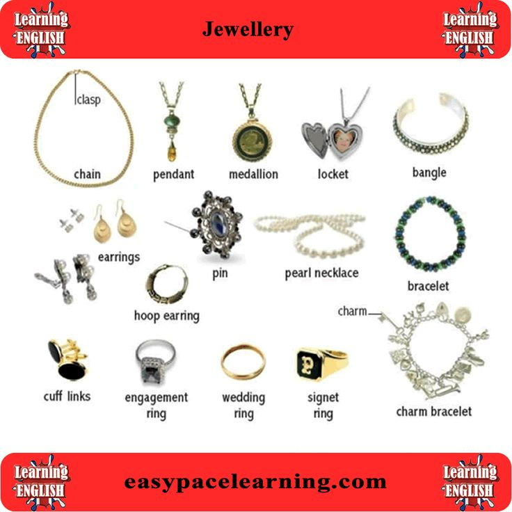 jewellery vocabulary