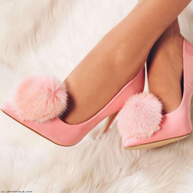 Privileged Playboy Pom Pom Pointed Toe Heels
