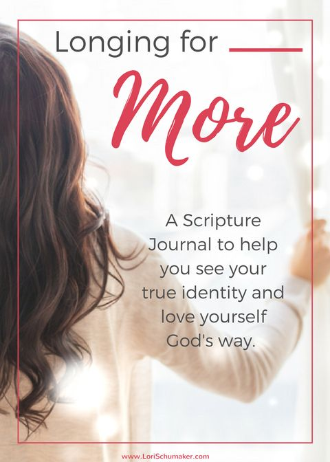 Free Journal   Longing for More  Identity Journal   Scripture Journal #journal #prayerjournal #scripturejournal #identity #hope #chosen #worthy #onlinecourse #biblestudy