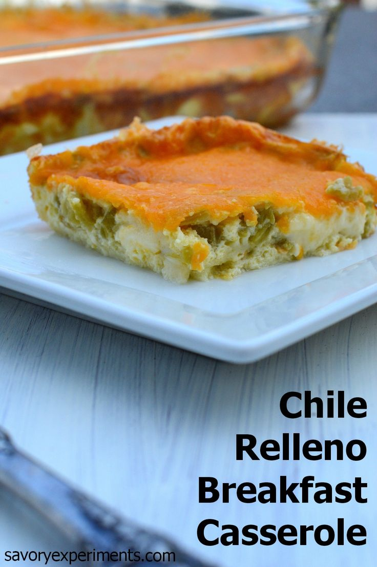 Chile Relleno Casserole Recipe - Mild green chiles loaded with cheddar and pepper jack cheese. Comes together in 10 minutes and bakes up to a fluffy casserole. Great for feeding groups!