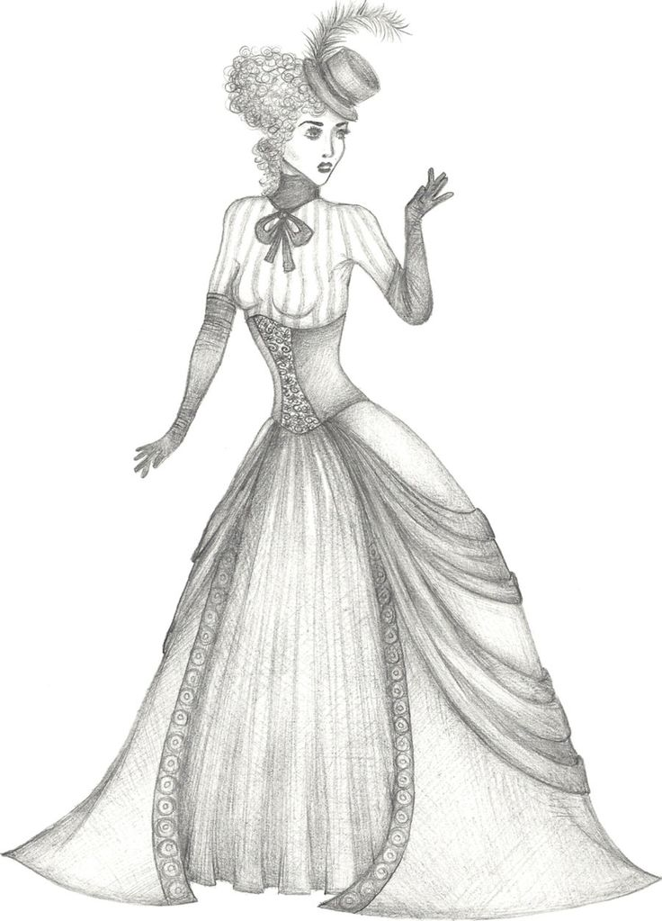 victoria coloring dresses victorian people colouring pages