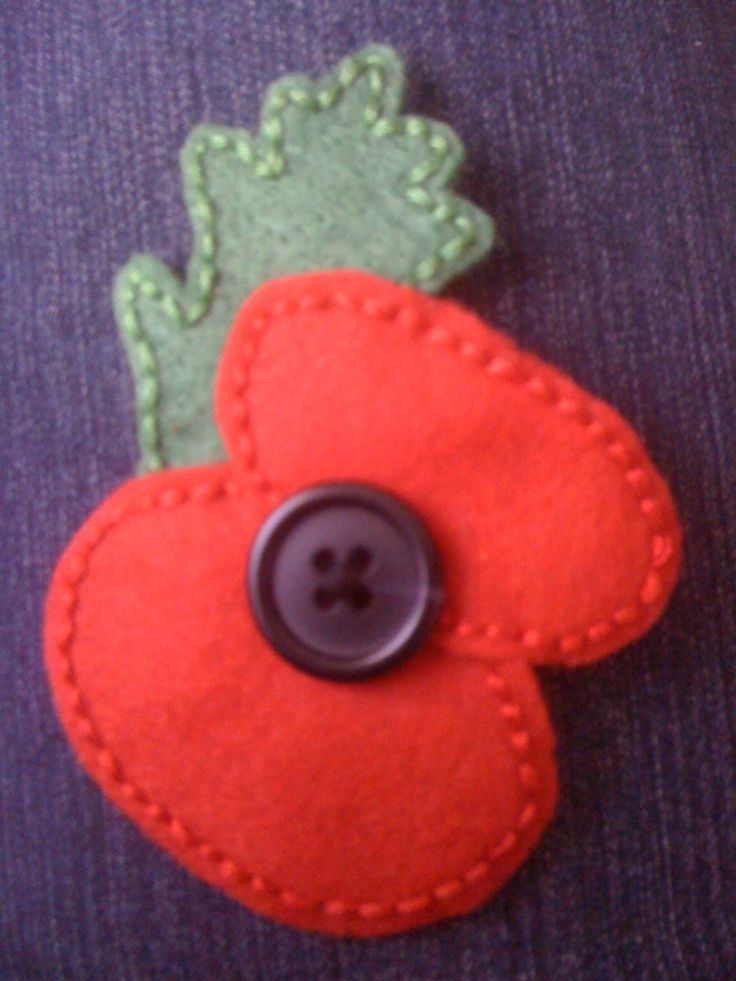 remembrance day crafts - for toddler attach to shirt with a button