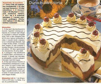 kismvity RECEPT gyüjteménye: Duna-hullám torta