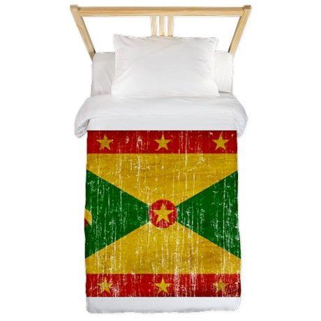 Grenada Flag Twin Duvet on CafePress.com