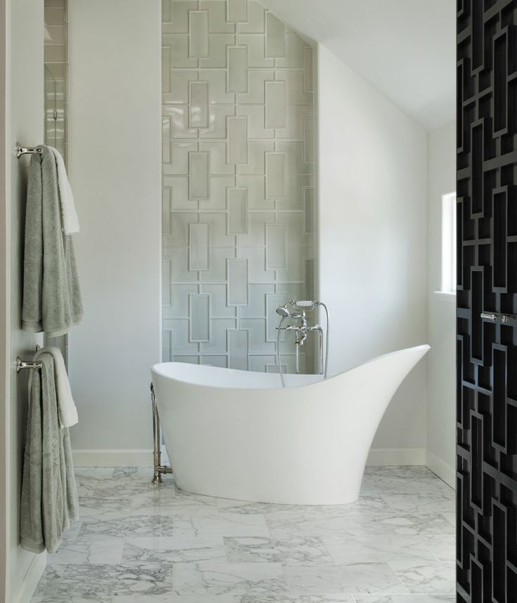 Cool Shape For A Bath Tub! Credit: Willow Glen Residence By Lizette Marie  Interior Design