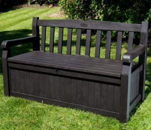 Black Storage Bench Outdoor