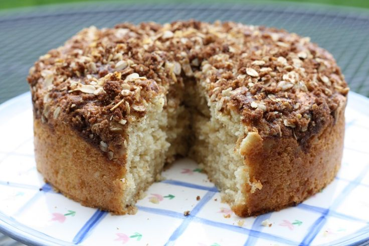 our Cream Coffee Cake Recipe        Yield: 1 Cake      Prep: 45 mins      Cook: 45 mins      Ready In: 1 hr 30 mins    Ingredients        Cake      1 Cup Sour Cream      1 Tsp. Baking Soda      1 3/4 Cup Flour      2 Tsp. Baking Powder      1/2 Cup Butter      1 Cup White Sugar      2 Eggs Well Beaten      1 Tsp. Vanilla      Topping Mix All Together      1/4 Cup Brown Sugar      2 Tbsp. Chopped Nuts      1 Tbsp. Cinnamon     Instructions        Heat oven to 350F      Combine sour cream and…