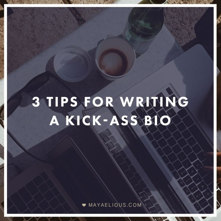Tips for writing a work biography