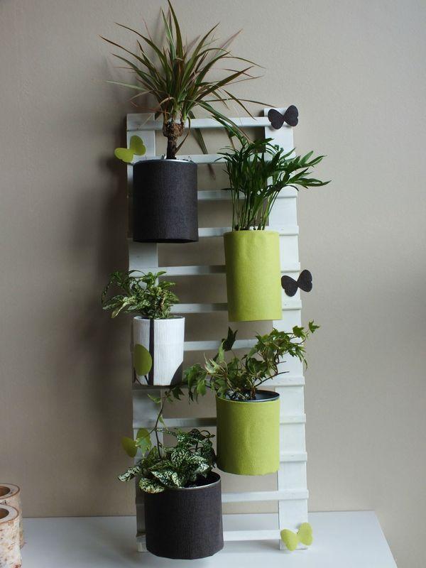 DIY Déco récup : faire une échelle pour accrocher des plantes http://www.stephaniebricole.com/archives/2013/05/21/26607227.html