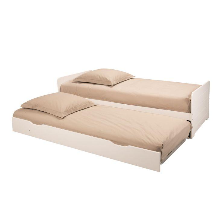 andys lit gigogne blanc 90x200cm lit gigogne lit. Black Bedroom Furniture Sets. Home Design Ideas