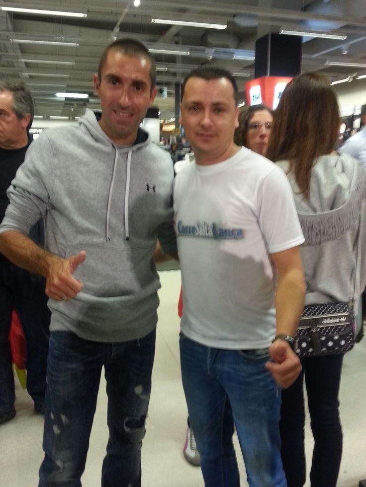 Rui Pedro Silva também tirou uma foto com  Corre Salta Lança