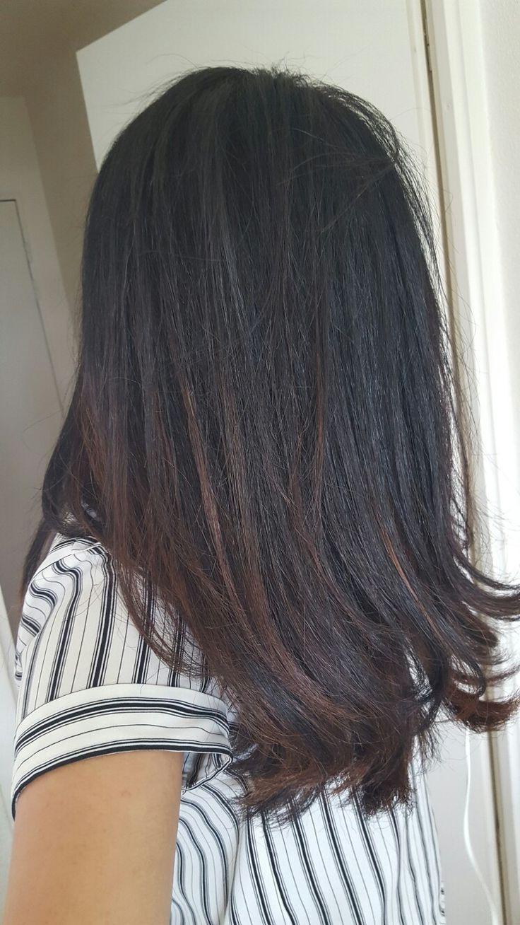 1000 ideas about balayage cheveux noir on pinterest balayage miel sur brune balayage cheveux and black hair - Color Out Sur Cheveux Noir