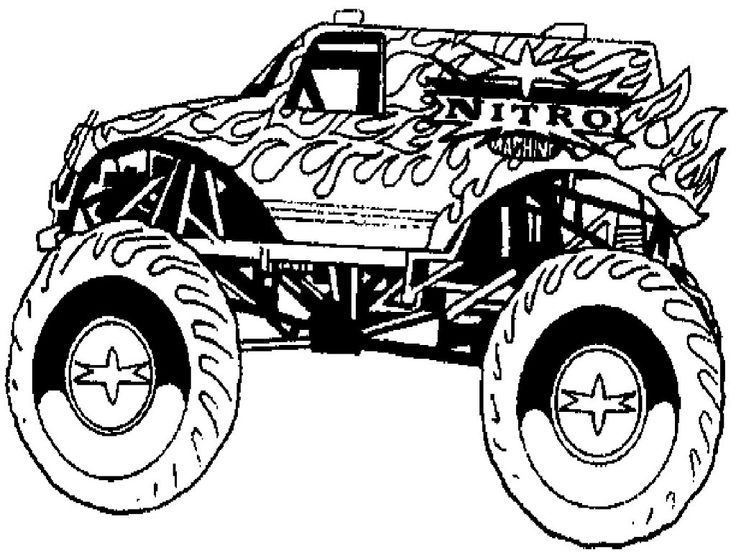 printable monster truck coloring pages for kids httpwwweshopscrubs - Coloring Pages Cars Trucks