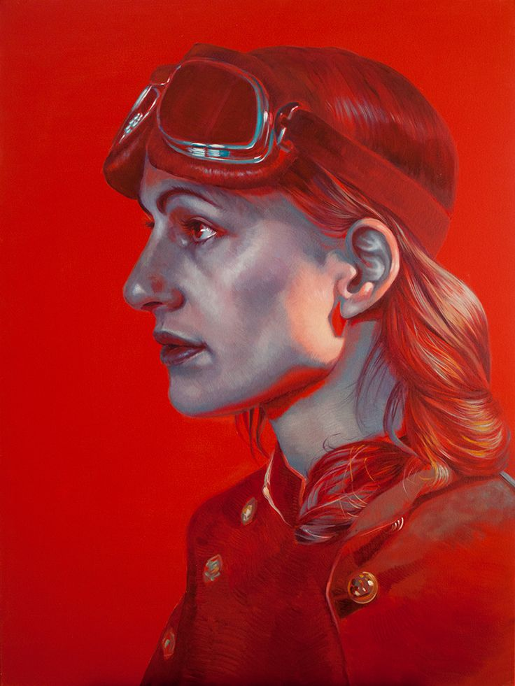 Kathrin Longhurst, Postcards from the Battlefield Red - 3, oil on canvas, 92x122cm