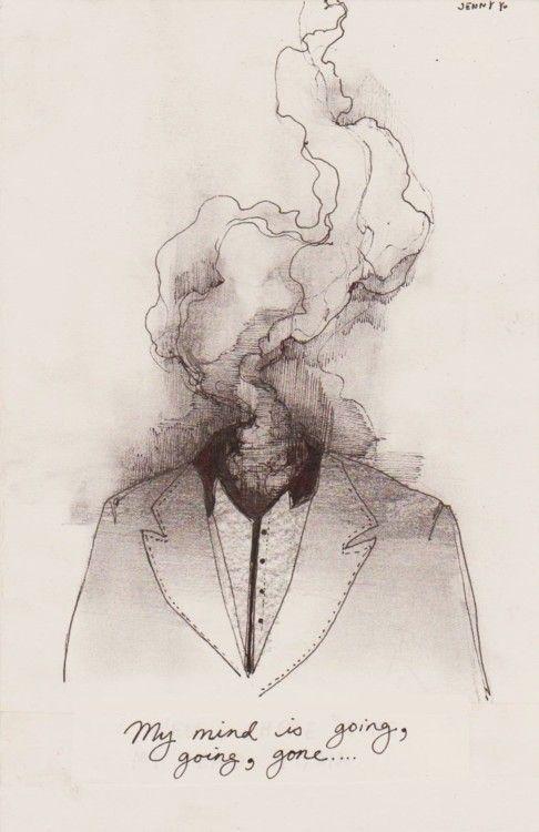 Meine Gedanken sind … verschwunden … verschwunden. – # # # geht # mein # Rand #zei