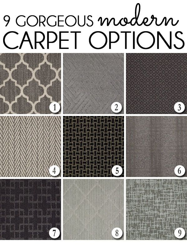9 Gorgeous Modern Carpets that can be cut to create a custom rug or stair runner…