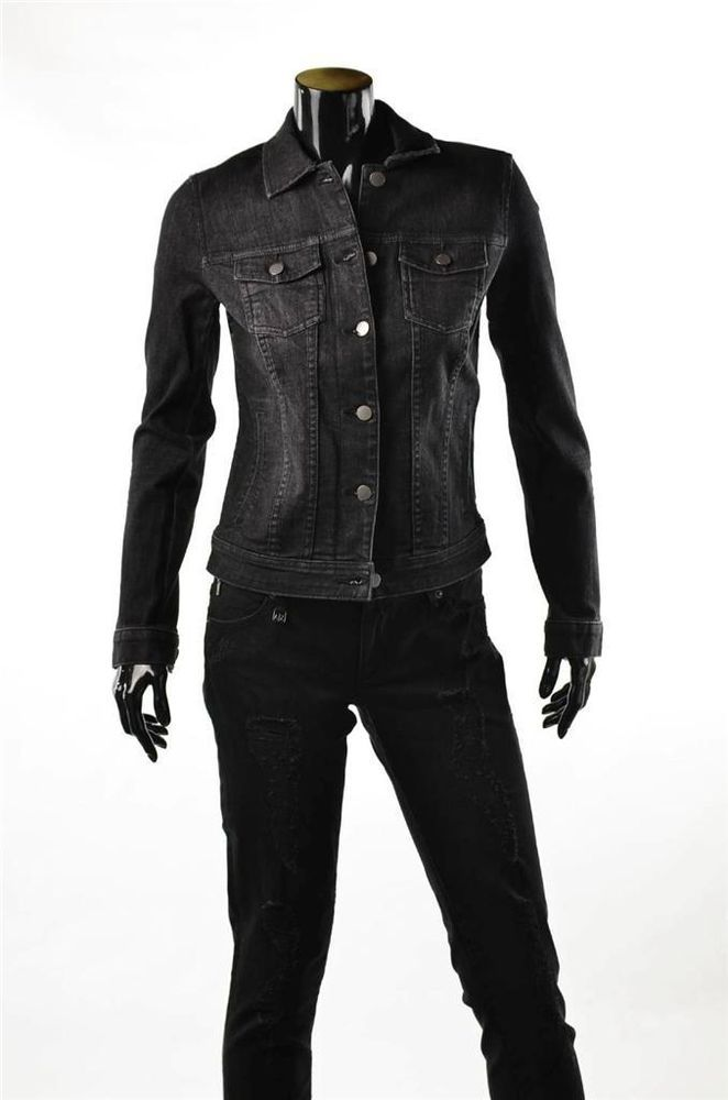 Armani Exchange Black Jean Jacket A/X Womens Coat M Jackets NWT ...