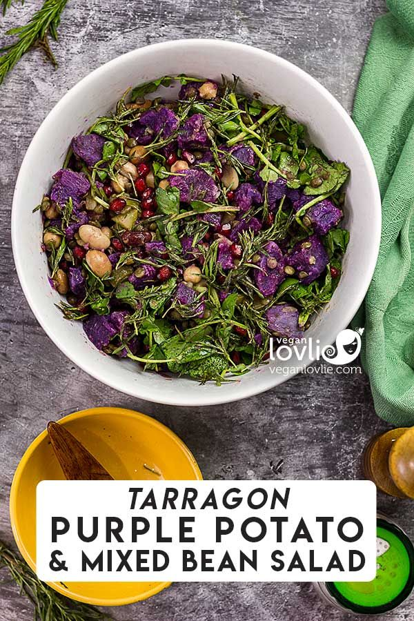 Tarragon Purple Potato and Mixed Bean Salad