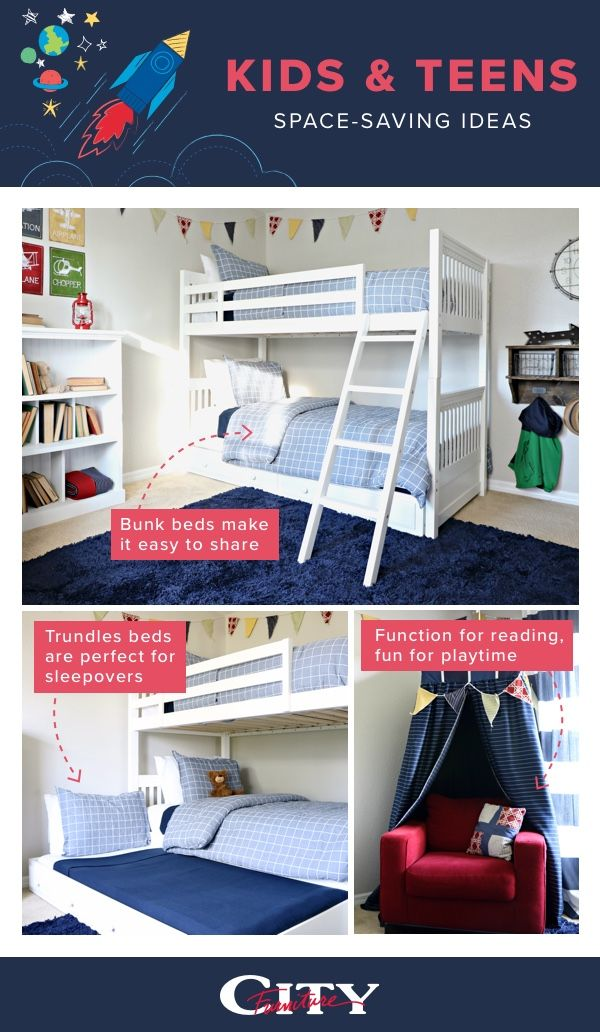 Make The Most Of Your Kids And Teens Bedrooms With Space Saving