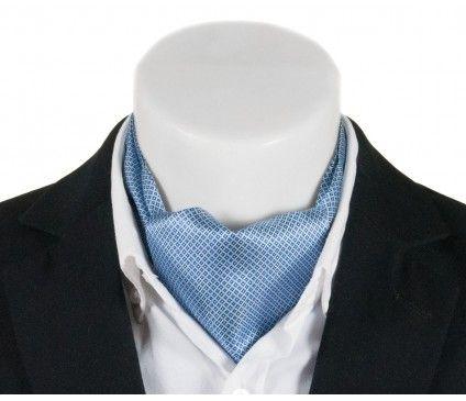 Niebieski fular w drobny wzór – 15009
