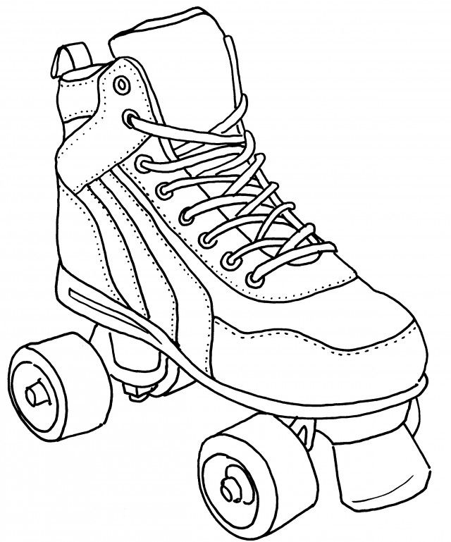1 Roller Skate Colouring Pages