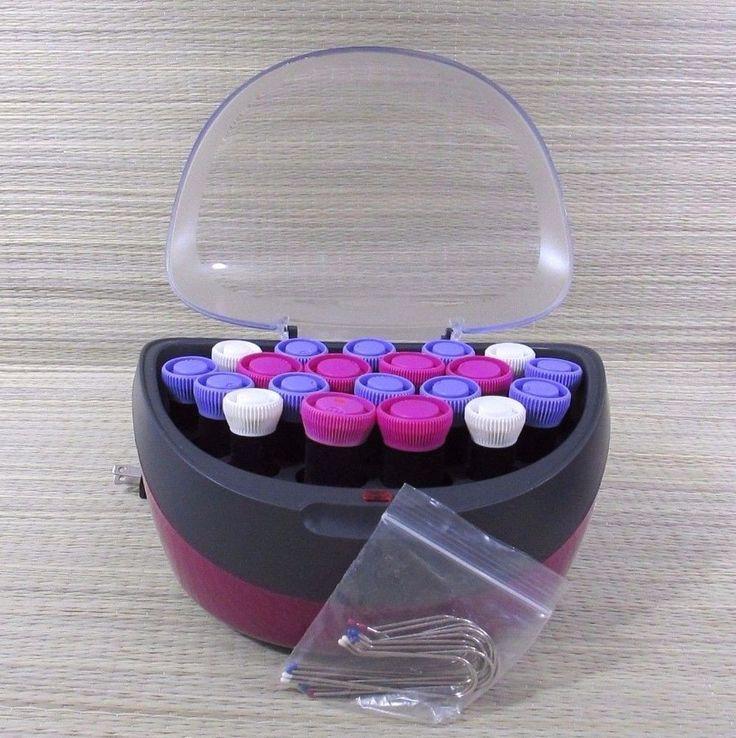 Remington Velvet Curl Envy Ionic Wax Core Hot Rollers Curlers Pink Purple White #Remington